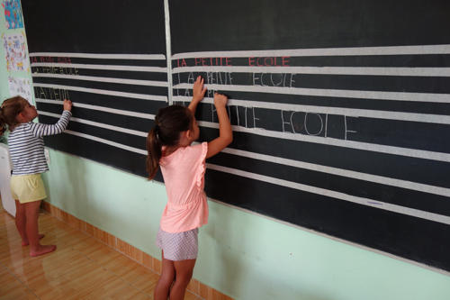 writing on the board